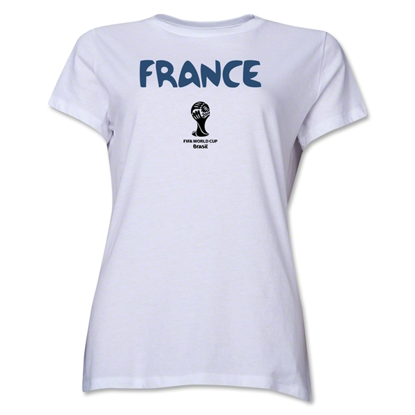 France 2014 FIFA World Cup Brazil(TM) Women's Core T-Shirt (White)