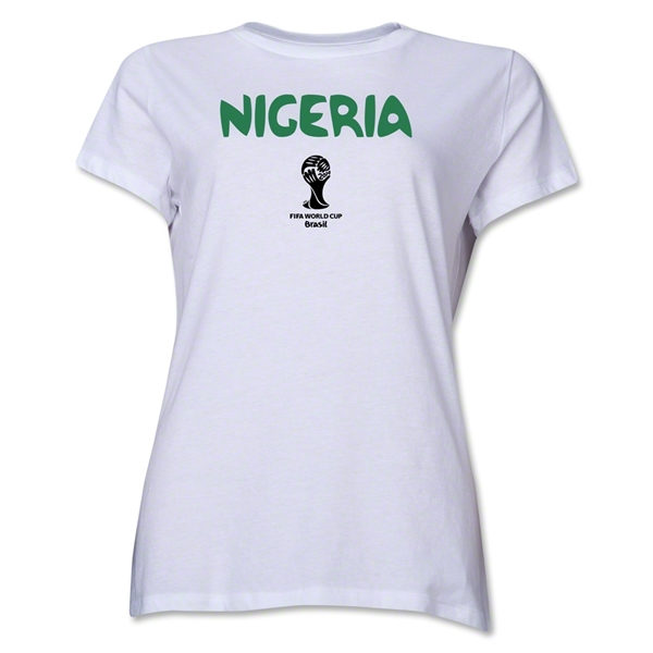 Nigeria 2014 FIFA World Cup Brazil(TM) Women's Core T-Shirt (White)