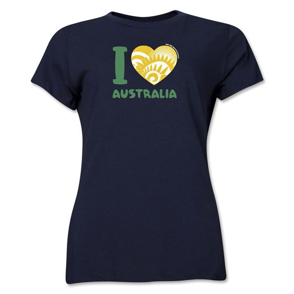 I Heart Australia 2014 FIFA World Cup Brazil(TM) Women's T-Shirt (Navy)