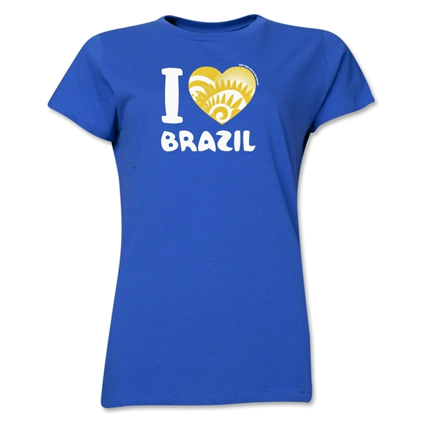 I Heart Brazil 2014 FIFA World Cup Brazil(TM) Women's T-Shirt (Royal)