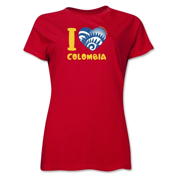 I Heart Colombia 2014 FIFA World Cup Brazil(TM) Women's T-Shirt (Red)
