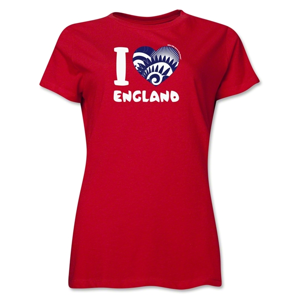I Heart England 2014 FIFA World Cup Brazil(TM) Women's T-Shirt (Red)