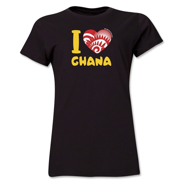 I Heart Ghana 2014 FIFA World Cup Brazil(TM) Women's T-Shirt (Black)