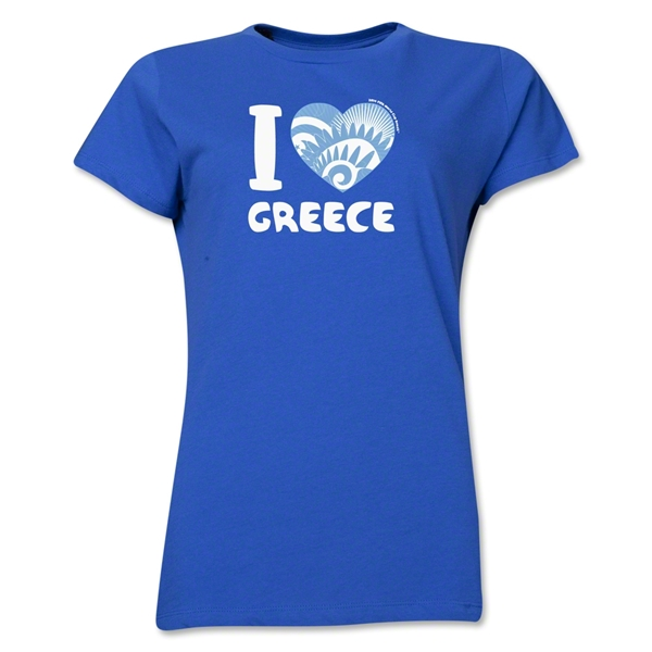 I Heart Greece 2014 FIFA World Cup Brazil(TM) Women's T-Shirt (Royal)