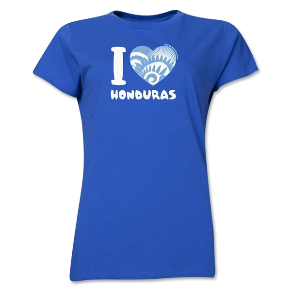 I Heart Honduras 2014 FIFA World Cup Brazil(TM) Women's T-Shirt (Royal)