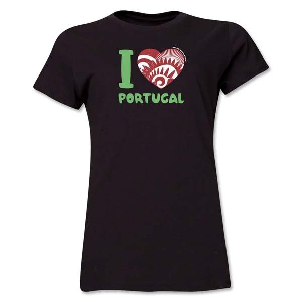 I Heart Portugal 2014 FIFA World Cup Brazil(TM) Women's T-Shirt (Black)