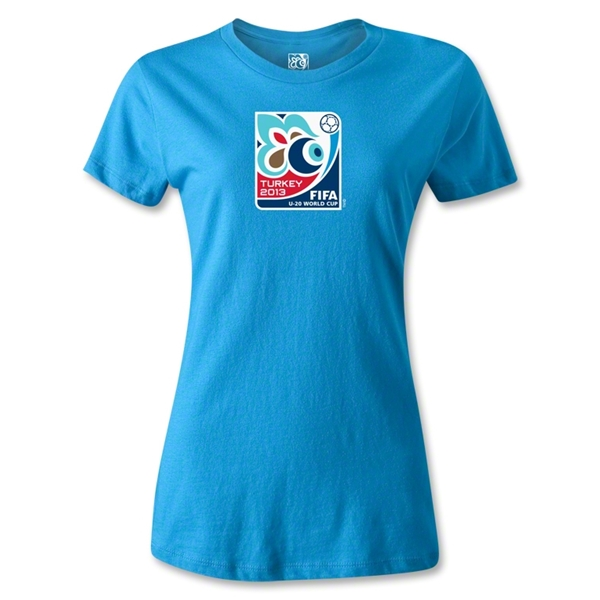 FIFA Men's U20 World Cup 2013 Women's Event Emblem T-Shirt (Turquoise)