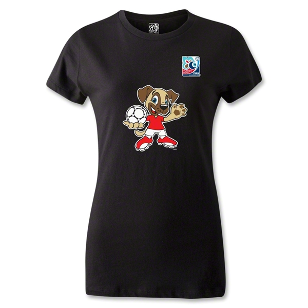FIFA U-20 World Cup Turkey Women's Mascot T-Shirt (Black)