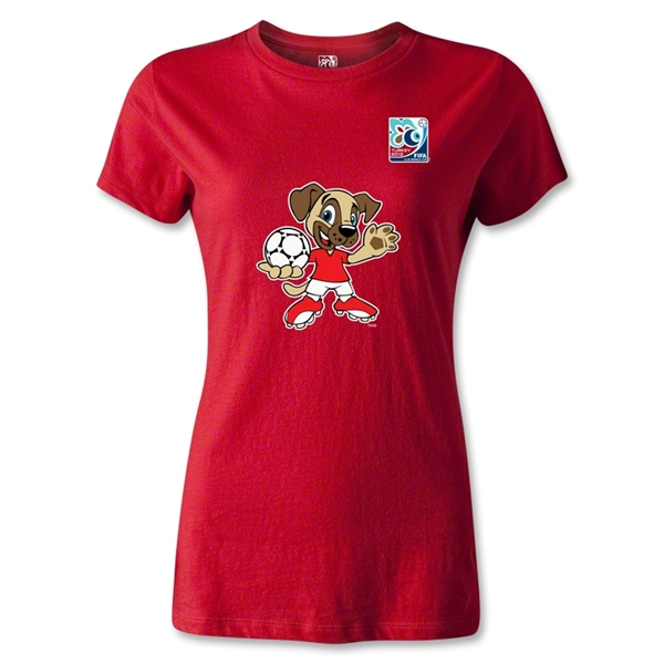 FIFA U-20 World Cup Turkey Women's Mascot T-Shirt (Red)