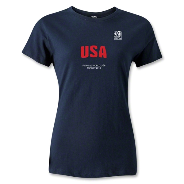 FIFA U-20 World Cup Turkey Women's USA T-Shirt (Navy)
