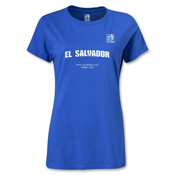 FIFA U-20 World Cup Turkey Women's El Salvador T-Shirt (Royal)