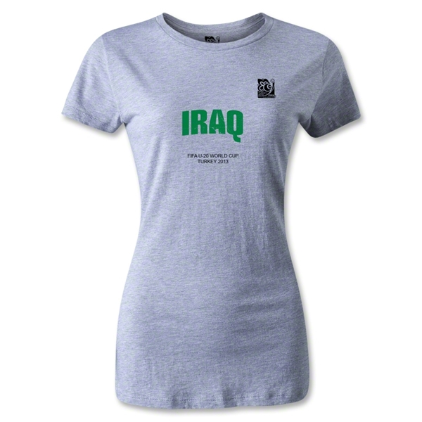 FIFA U-20 World Cup Turkey Women's Iraq T-Shirt (Gray)