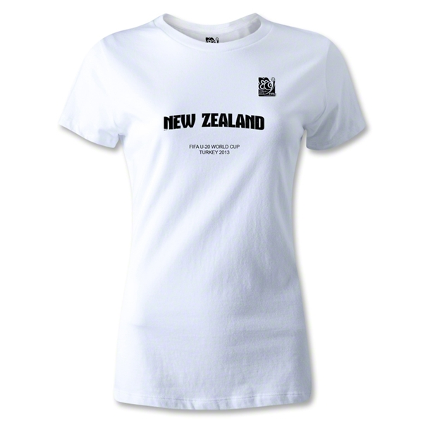 FIFA U-20 World Cup 2013 Women's New Zealand T-Shirt (White)