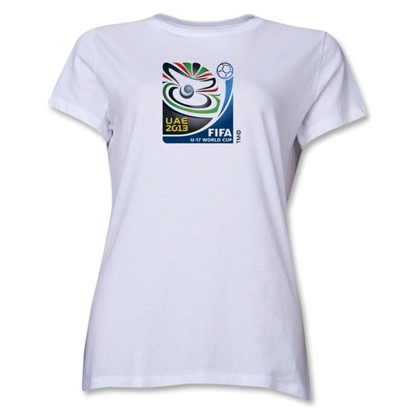 FIFA U-17 World Cup UAE 2013 Women's Official Emblem T-Shirt (White)
