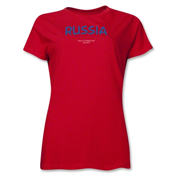 Russia 2013 FIFA U-17 World Cup UAE Women's T-Shirt (Red)
