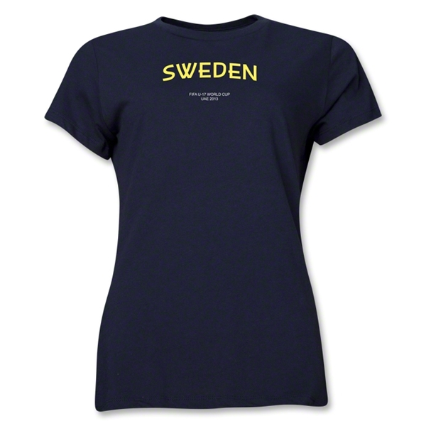 Sweden 2013 FIFA U-17 World Cup UAE Women's T-Shirt (Navy)