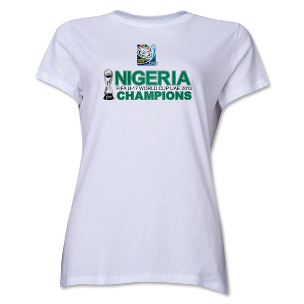 Nigeria FIFA U-17 World Cup UAE 2013 Champions Adult Women T-Shirt (White)