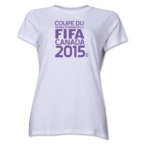 FIFA Women's World Cup Canada 2015(TM) Women's French Logotype T-Shirt (White)