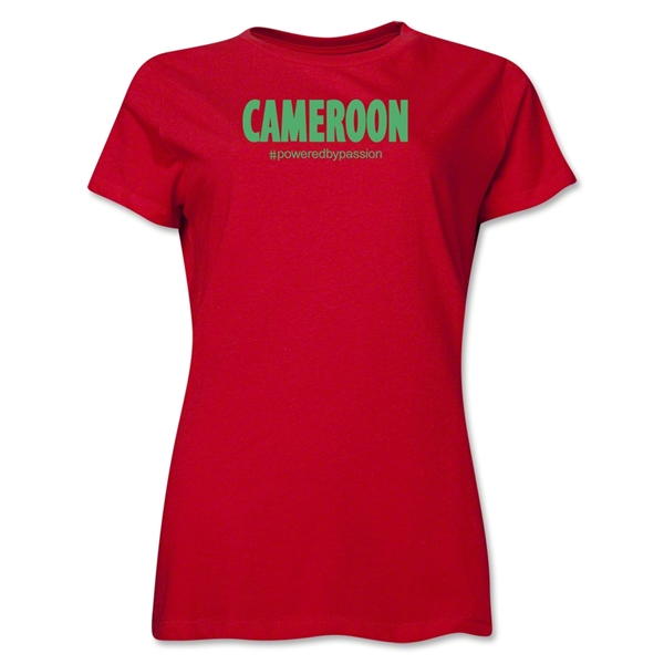 Cameroon Powered by Passion Women's T-Shirt (Red)