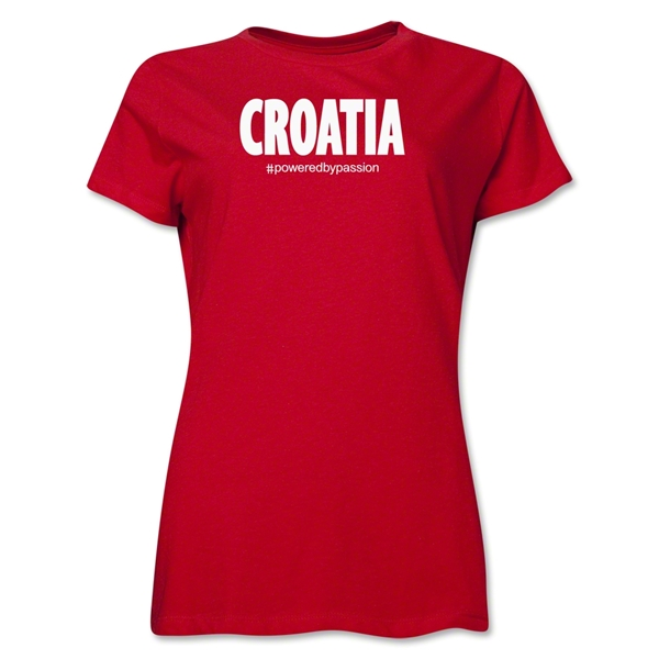 Croatia Powered by Passion Women's T-Shirt (Red)