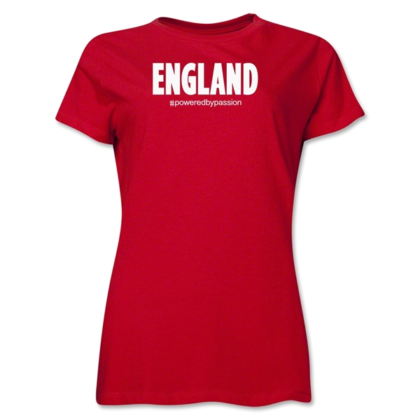 England Powered by Passion Women's T-Shirt (Red)