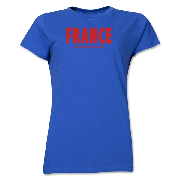 France Powered by Passion Women's T-Shirt (Royal)