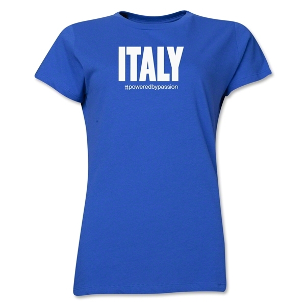 Italy Powered by Passion Women's T-Shirt (Royal)