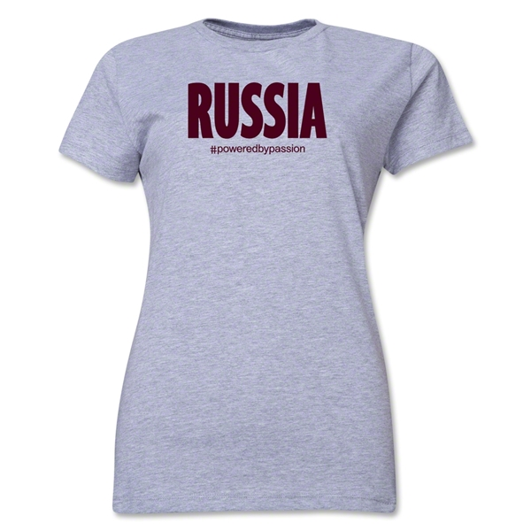 Russia Powered by Passion Women's T-Shirt (Gray)