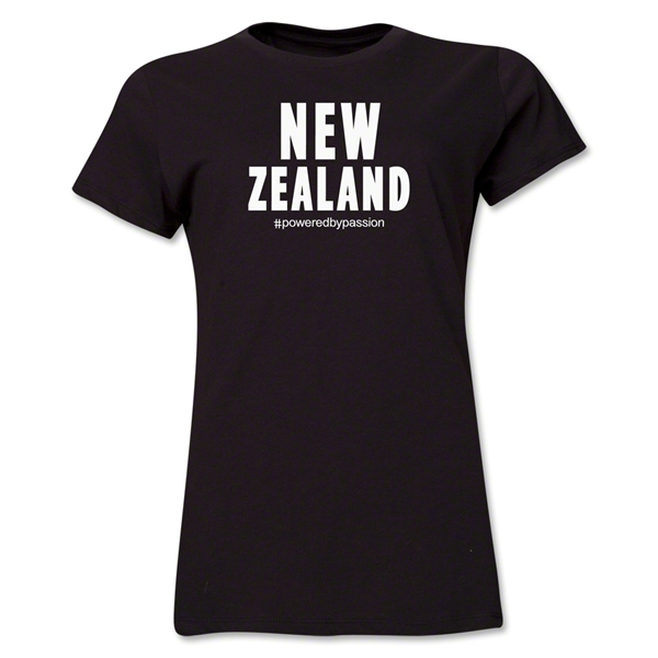 New Zealand Powered by Passion Women's T-Shirt (Black)