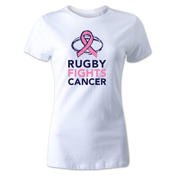 Rugby Fights Cancer Women's T-Shirt (White)