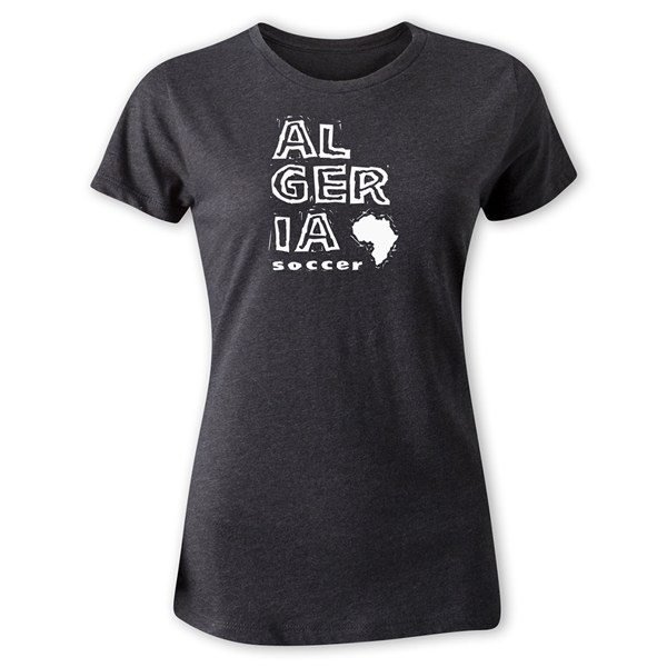 Algeria Women's Country T-Shirt (Dark Gray)