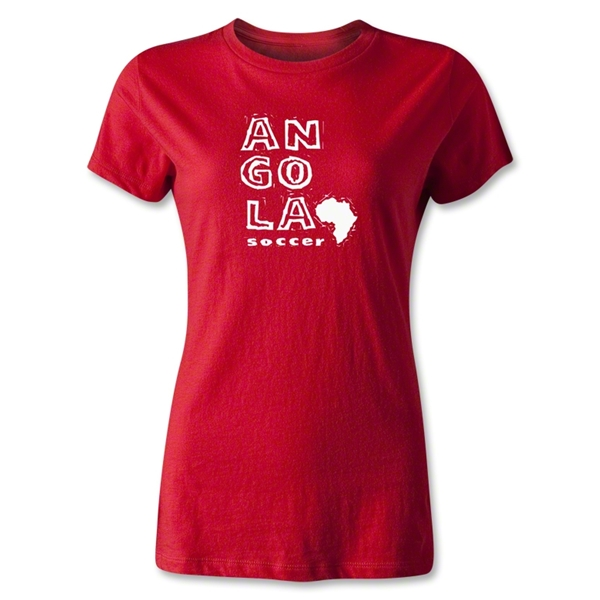 Angola Women's Country T-Shirt (Red)