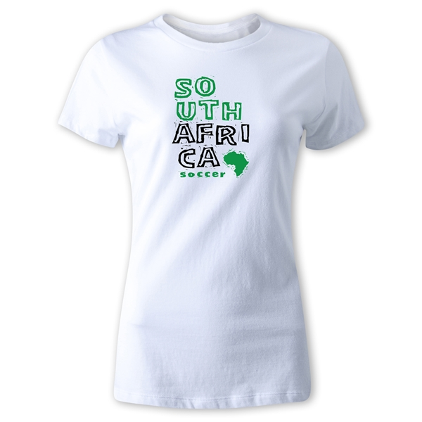 South Africa Women's Country T-Shirt (White)