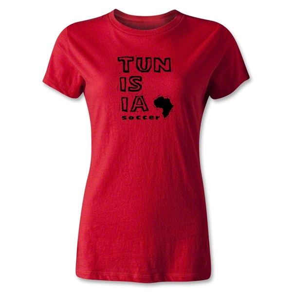 Tunisia Women's Country T-Shirt (Red)