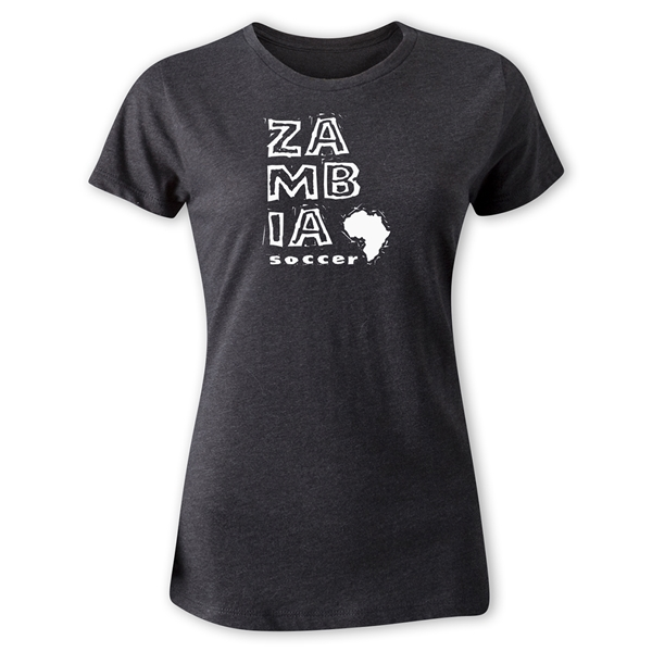 Zambia Women's Country T-Shirt (Dark Gray)