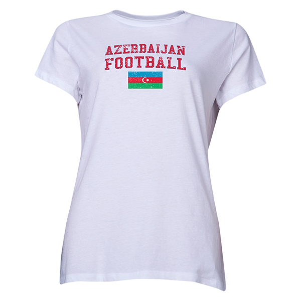 Azerbaijan Women's Football T-Shirt (White)
