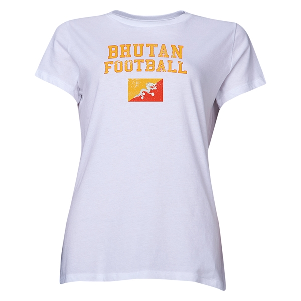 Bhutan Women's Football T-Shirt (White)