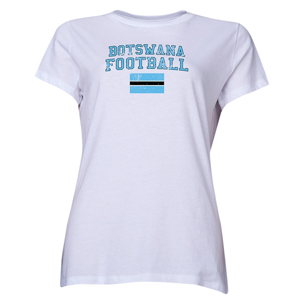 Botswana Women's Football T-Shirt (White)