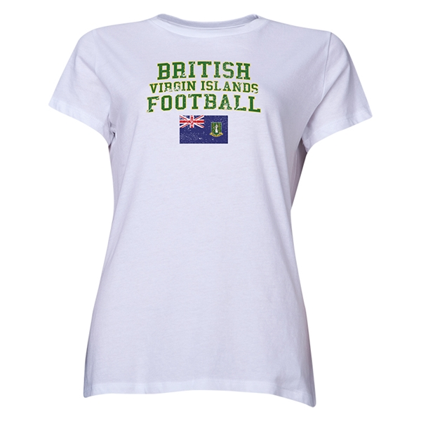 British Virgin Islands Women's Football T-Shirt (White)