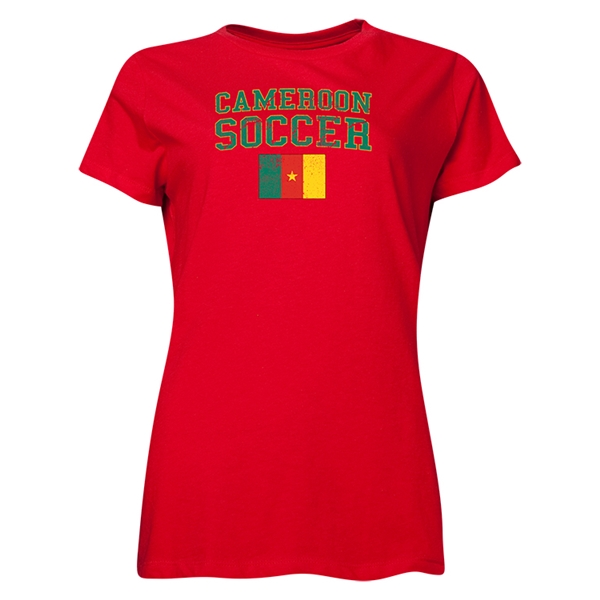 Cameroon Women's Soccer T-Shirt (Red)