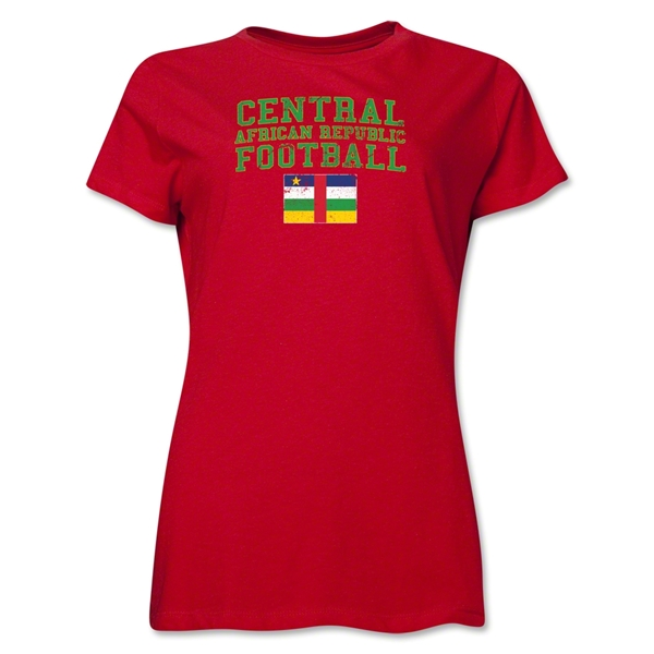 Central African Republic Women's Football T-Shirt (Red)