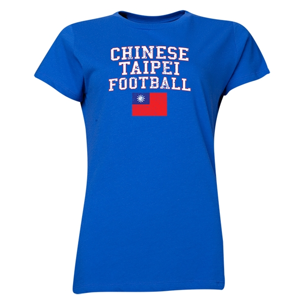 Chinese Taipei Women's Football T-Shirt (Royal)