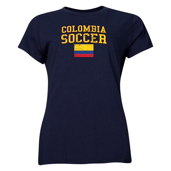 Colombia Women's Soccer T-Shirt (Navy)