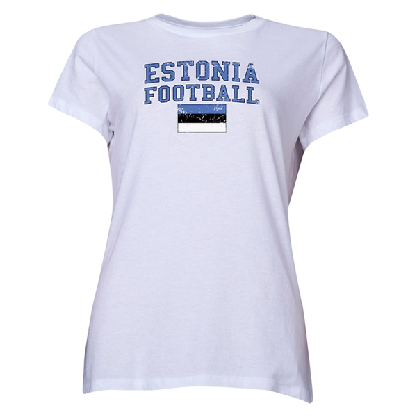 Estonia Women's Football T-Shirt (White)