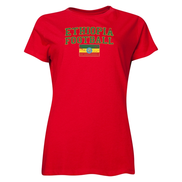Ethipia Women's Football T-Shirt (Red)