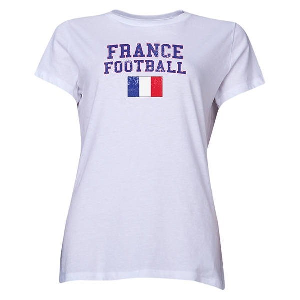 France Women's Football T-Shirt (White)