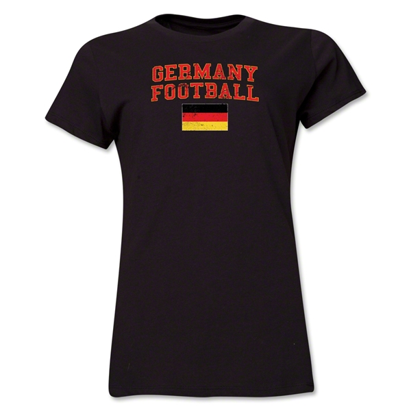 Germany Women's Football T-Shirt (Black)