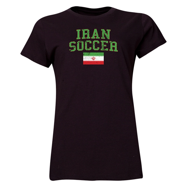 Iran Women's Soccer T-Shirt (Black)