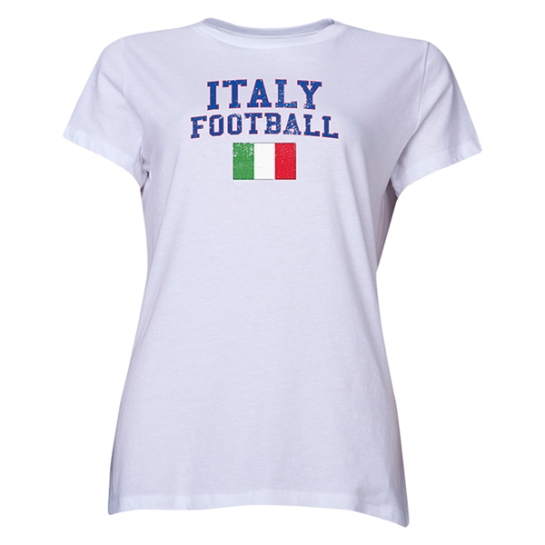 Italy Women's Football T-Shirt (White)