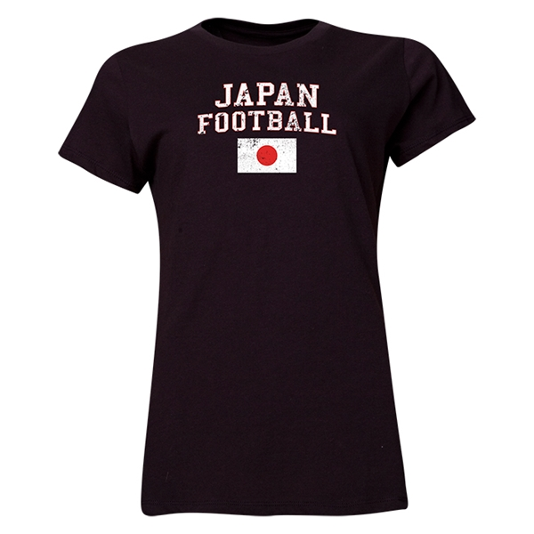 Japan Women's Football T-Shirt (Black)